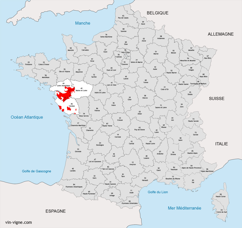 Nantes carte de france